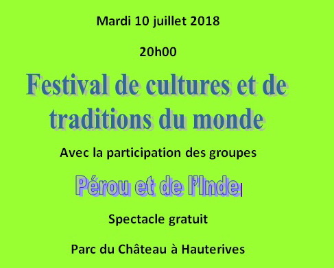 festival  international cultures et tradition du monde