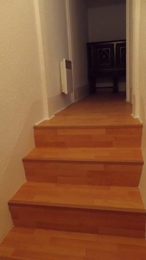 le nouveau parquet dans les chambres et escalier