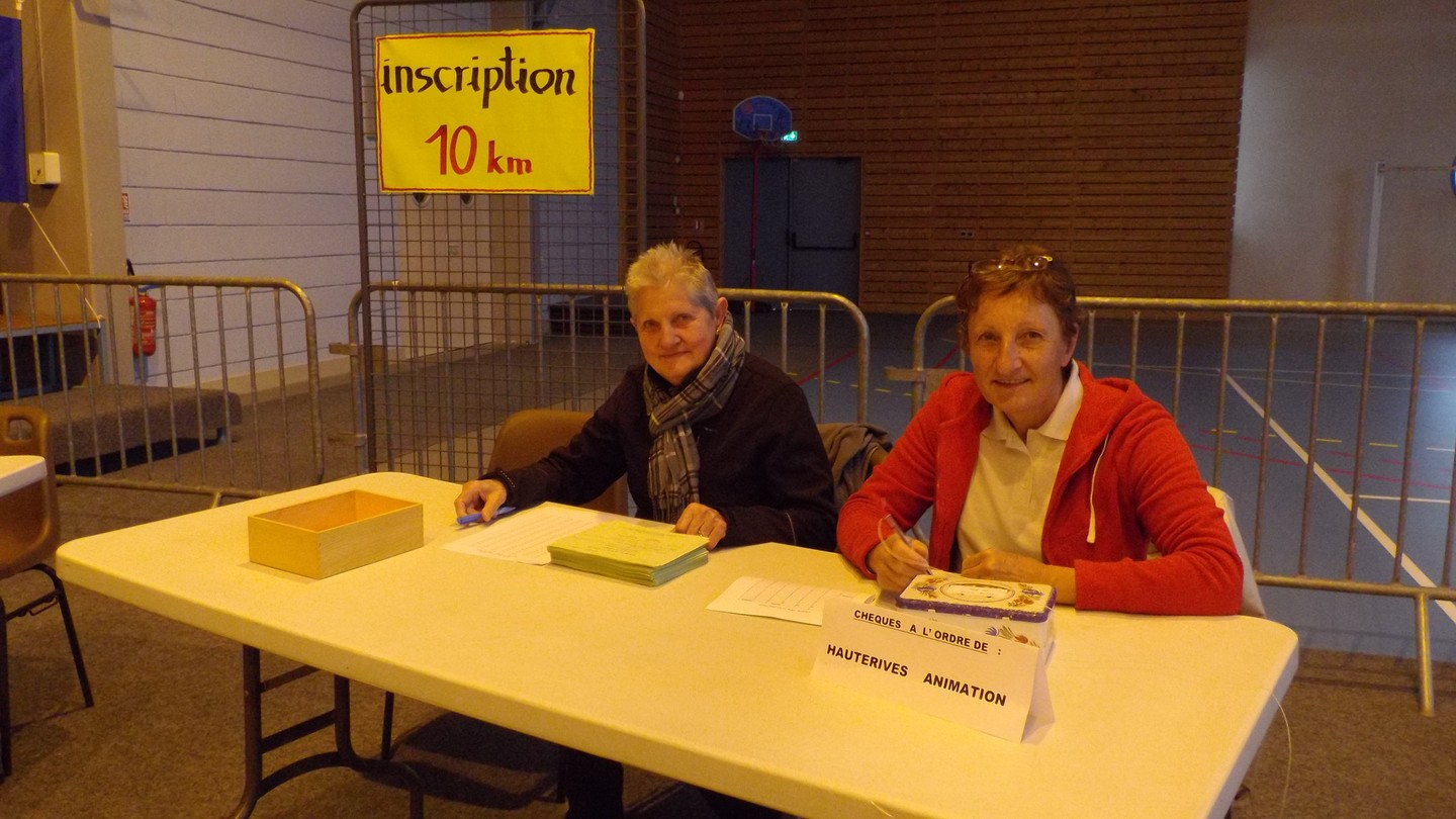 le premier stand inscription des 10 kms