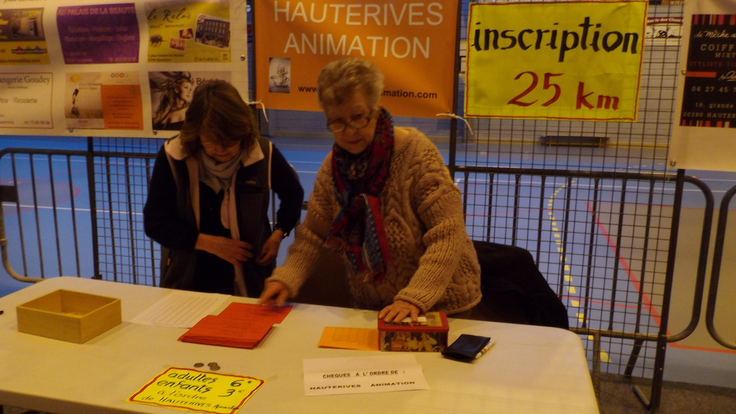 le stand inscription des 25 kms