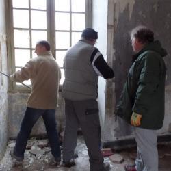 en action, démolition