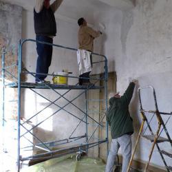 les peintres en action