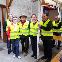 une partie de l'équipe des bénévoles au gite Brunet