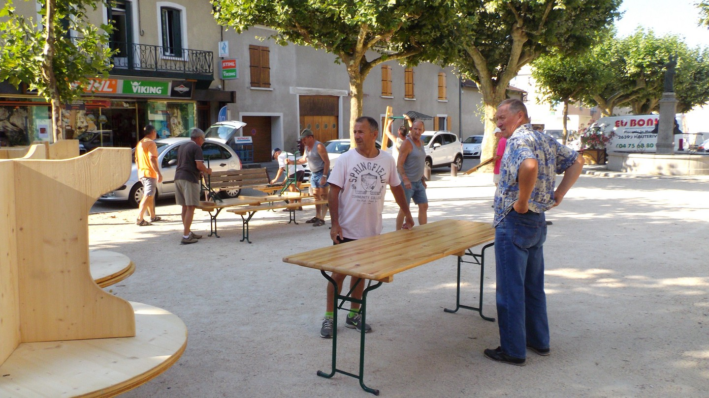 pose des tables