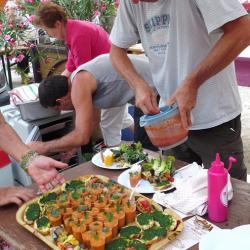 préparation de la salade bio