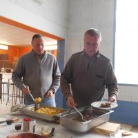 André et Jean Claude au service