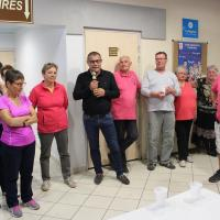 le maire remercie vivement les bénévoles et les organisateurs