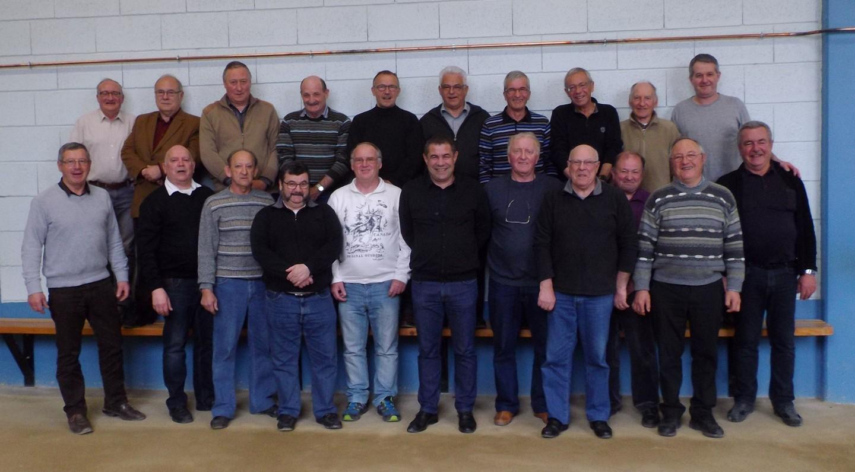 le groupe des bénévoles participants