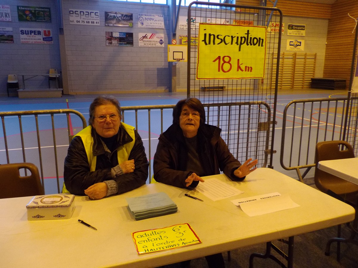 le premier stand inscription des 18 kms