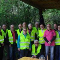 le groupe des bénévoles d'accrobranches