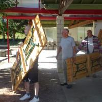 transport des tables et bancs