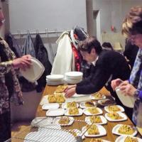 le repas offert pour les bénévoles
