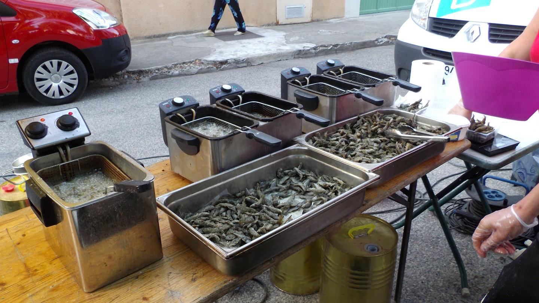 préparation de la friture